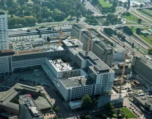 boorpalen voor nieuwbouw Erasmus MC Rotterdam