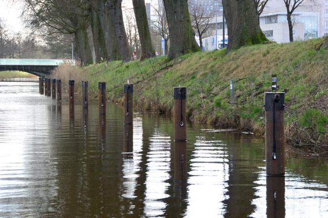 stalen-meerpalen-in-het-water-voor-aanlegplaatsen-roeiboten-in-breda